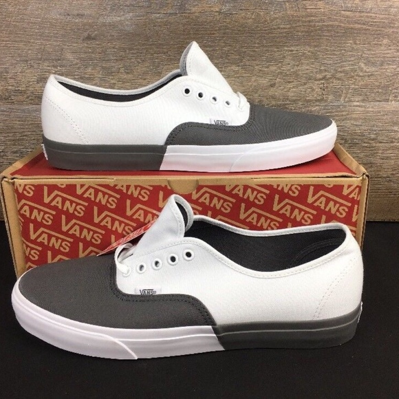 f230edb69f Vans Authentic (blocked) Pewter Skate Shoes